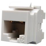 Розеточный модуль MOLEX KM 1xRJ45 (WE8W), UTP, 568A/B, PowerCat 5e, White