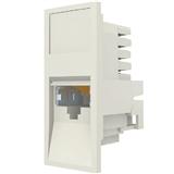 Розеточный модуль MOLEX Euromod 1xRJ45, M1 Straight, 568B, FTP, PC 5e (17.1C.011.D0015)