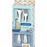 Набор детских столовых приборов TRAMONTINA BABY Le Petit blue x2