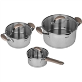 Набор посуды TEFAL Inspiration 2,9л +5,1 л+1,5 л