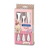 Набор детских столовых приборов TRAMONTINA BABY Le Petit pink 3 пр