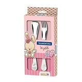 Детский набор столовых приборов TRAMONTINA BABY Le Petit pink