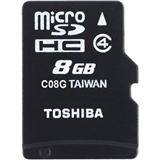 Карта памяти TOSHIBA microSDHC 8 GB Class 4 M102 + SD adapter (THN-M102K0080M2)