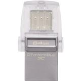 Флеш-драйв KINGSTON DT MicroDuo 3С 64GB (DTDUO3C/64GB)