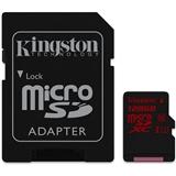 Карта памяти KINGSTON microSDXC 128 Gb UHS-I U3 + adapter (R90, W80MB/s) (SDCA3/128GB)