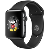 Смарт-часы Apple Watch Series 2 38mm Space Black Stainless Steel Case with Black Sport Band (MP492)